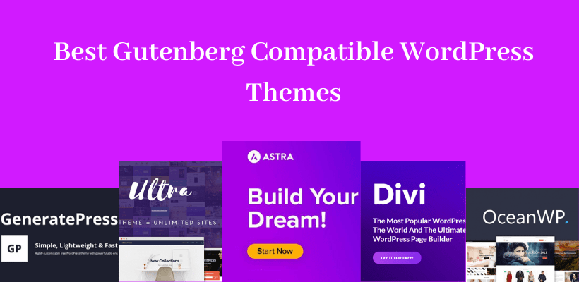 Best Gutenberg Compatible WordPress Themes