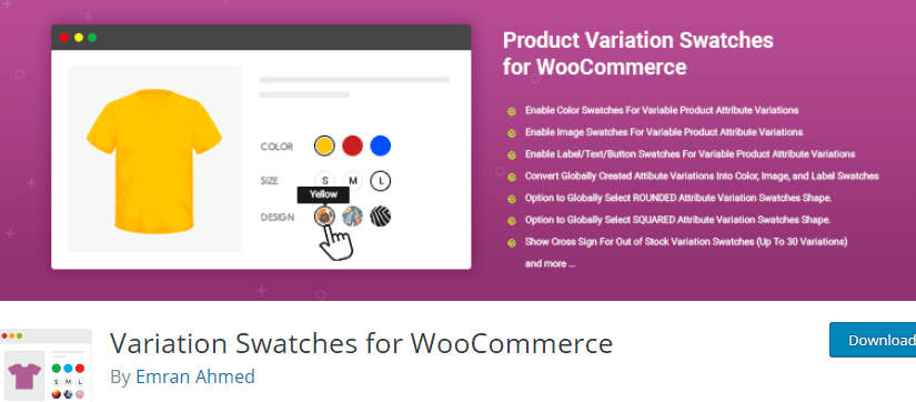 must-have WooCommerce plugin - Variation Swatches