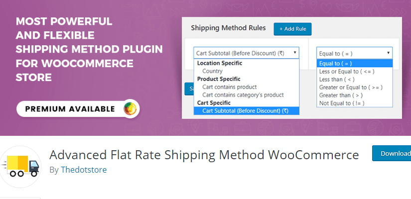 Advanced Flat Rate Shipping Method