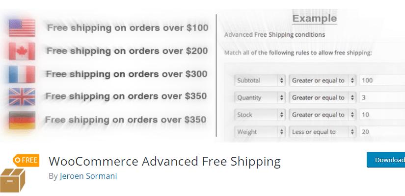 WooCommerce Advanced Free Shipping