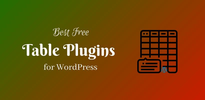 Best Free Table Plugins for WordPress - CodeFlist