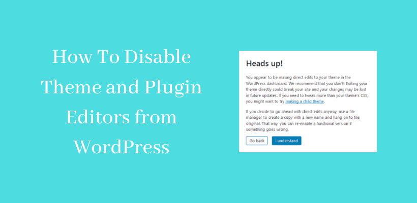 WordPress Disable Theme Editor