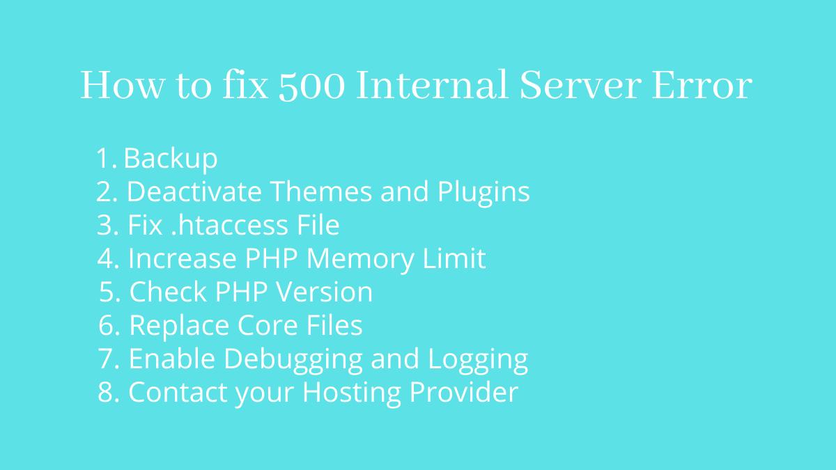 How to fix 500 Internal Server Error - CodeFlist