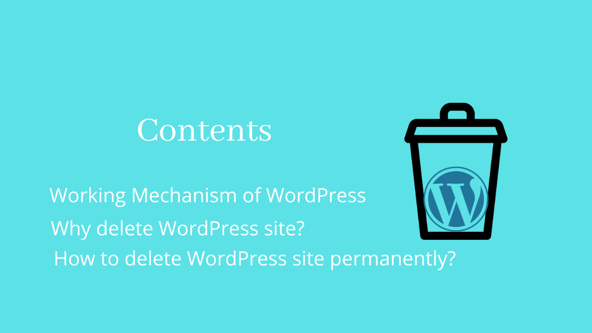 How to delete WordPress site - Contents