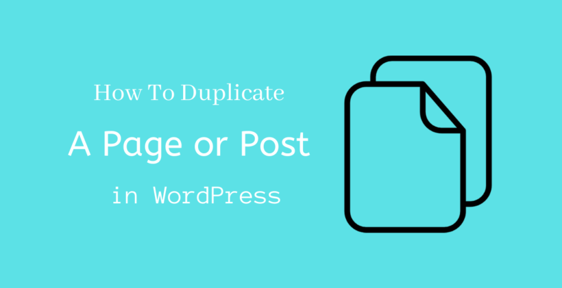 How to duplicate a page in WordPress - CodeFlist